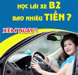 Học lái xe b2 bao nhiêu tiền